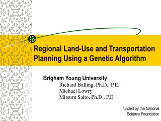 Regional Land-Use and Transportation Planning Using a Genetic Algorithm