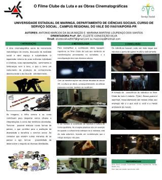 O Filme Clube da Luta e as Obras Cinematográficas