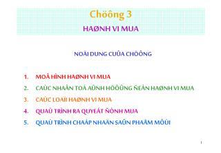 Chöông 3  HAØNH VI MUA