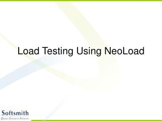 Load Testing Using NeoLoad