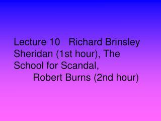 18th Century English Drama: