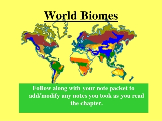 Notes   Marine Biomes