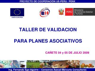 TALLER DE VALIDACION  PARA PLANES ASOCIATIVOS