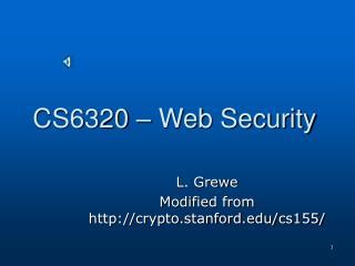 CS6320 – Web Security