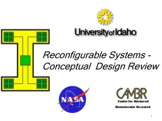 Reconfigurable Systems - Conceptual  Design Review