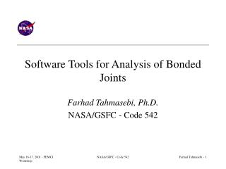 Software Tools for Analysis of Bonded Joints