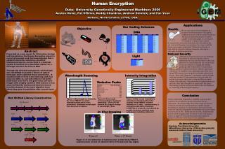 Human Encryption Duke  University Genetically Engineered Machines 2006