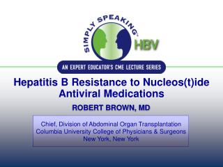 Hepatitis B Resistance to Nucleos(t)ide Antiviral Medications