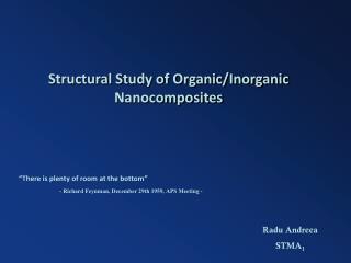 Structural Study of Organic/Inorganic Nanocomposites