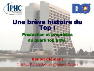 Une brève histoire du Top : Production et propriétés  du quark top à D Ø.