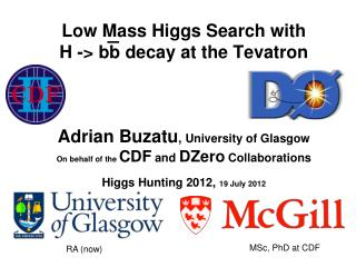 Low Mass Higgs Search with  H -> bb decay at the Tevatron