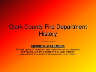 Clark County Fire Department  History