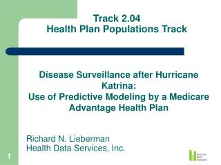 Track 2.04 Health Plan Populations Track