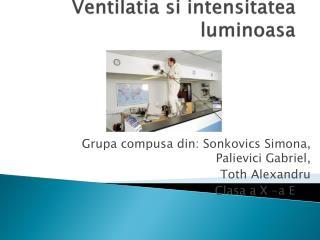 Ventilatia si intensitatea luminoasa