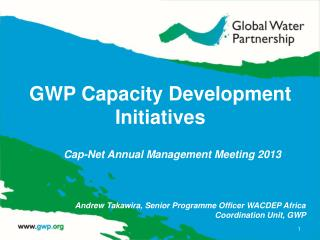 GWP Capacity Development Initiatives