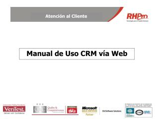 Manual de Uso CRM vía Web