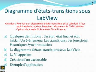 Diagramme d'états-transitions sous LabView