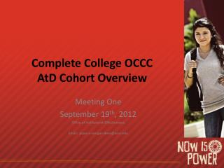 Complete College OCCC AtD Cohort Overview