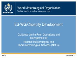 ES-WG/Capacity Development