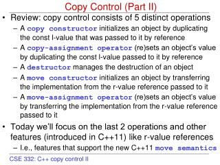 Copy Control (Part II)