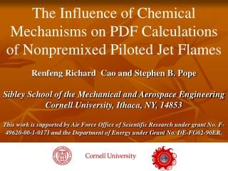 The Influence of Chemical Mechanisms on PDF Calculations of Nonpremixed Piloted Jet Flames