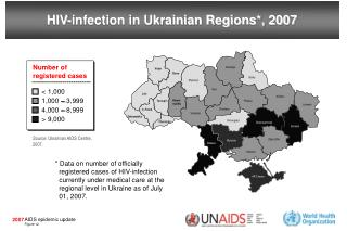 HIV-infection in Ukrainian Regions*, 2007
