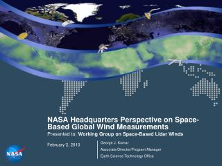 NASA Headquarters Perspective on Space-Based Global Wind Measurements