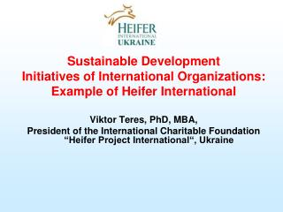 Sustainable Development Initiatives of International Organizations: