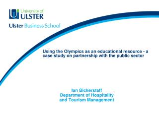 Using the Olympics as an educational resource - a case study on partnership with the public sector