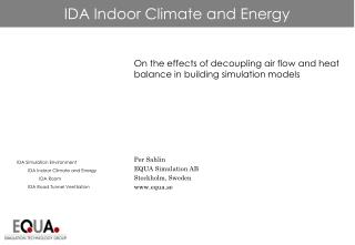 IDA Indoor Climate and Energy