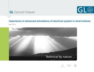 Importance of advanced simulations of electrical system in wind turbines