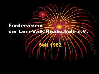 Förderverein  der Leni-Valk Realschule e.V.