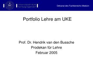Portfolio Lehre am UKE