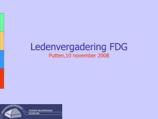 Ledenvergadering FDG Putten,10 november 2008