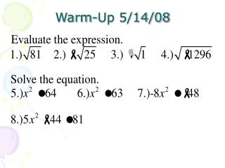 WARM-UP 5