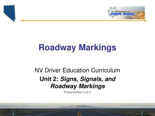 Roadway Markings