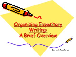 Organizing Expository Writing: A Brief Overview