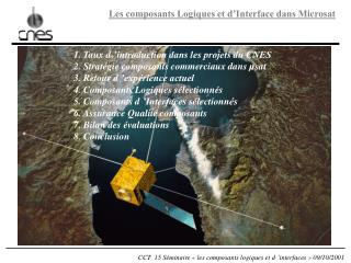 1. Taux d'introduction dans les projets du CNES 2. Stratégie composants commerciaux dans µsat