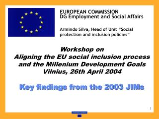 Workshop on  Aligning the EU social inclusion process and the Millenium Development Goals