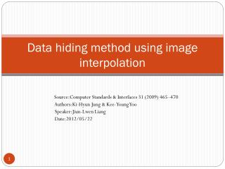 Data hiding method using image interpolation