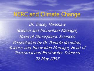 NERC and Climate Change