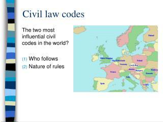 Civil law codes