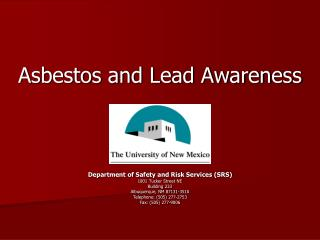 Asbestos and Lead Awareness