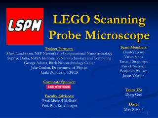 LEGO Scanning Probe Microscope