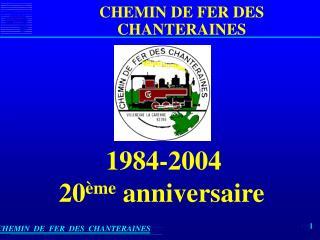CHEMIN  DE  FER  DES  CHANTERAINES