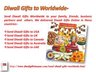 send Diwali Gifts to worldwide