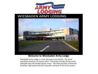 Welcome to Wiesbaden Army Lodge