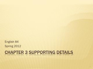 Chapter 3 Supporting details