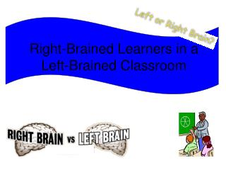 Right-Brained Learners in a  Left-Brained Classroom