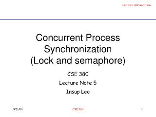 Concurrent Process Synchronization Lock and semaphore